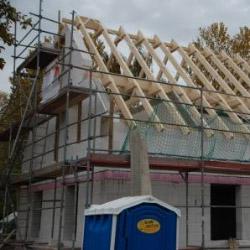 Dachstuhl auf Einfamilienhaus