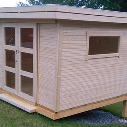 Gartenhaus aus Holz für privaten Bauherren